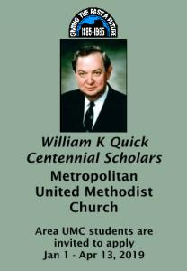 william quick centennial scholars